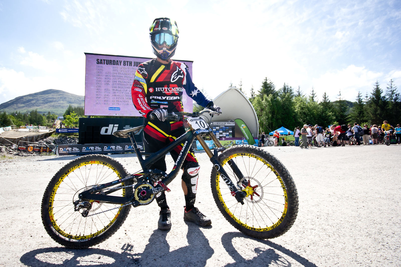 Mick Hannah's Polygon Collosus - 24 Pro DH BIkes from Fort William World Cup - Mountain Biking Pictures - Vital MTB