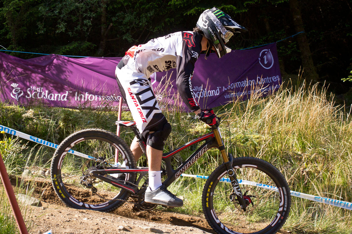 Josh Bryceland Santa Cruz V10 G-Out at Fort William - G-Out Project: Fort William Scotland World Cup - Mountain Biking Pictures - Vital MTB