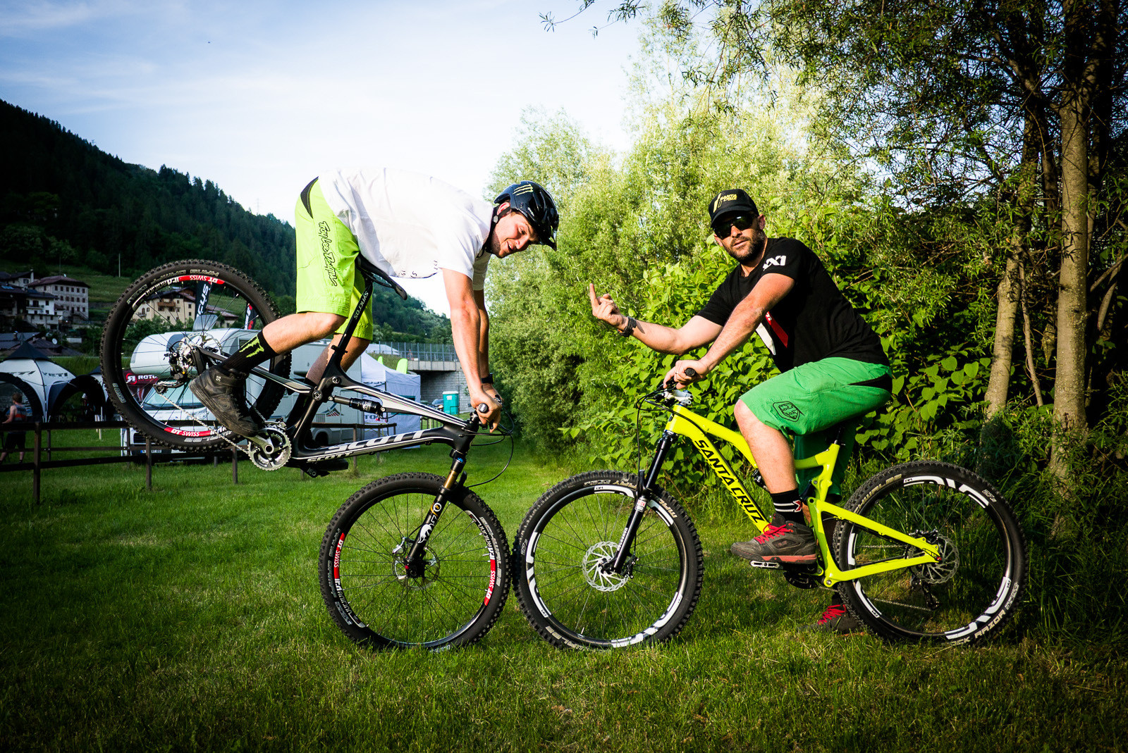 Beastie Boys or Backstreet Boys? - Pit Bits: 2013 Val di Sole World Cup - Mountain Biking Pictures - Vital MTB