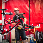 Aaron Gwin Switches to Large Specialized Demo 8 at Val di Sole