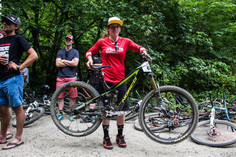 Jill Kintner with her Norco Sight Carbon at Ashland Mountain Challenge - PIT BITS: 2013 Oregon Enduro Series Ashland Mountain Challenge - Mountain Biking Pictures - Vital MTB