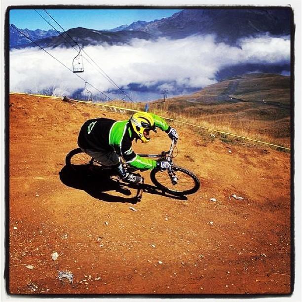 @World_Enduro with a Buffed-out Berm Shot - Enduro World Series Les 2 Alpes Pre-race Insight - Mountain Biking Pictures - Vital MTB