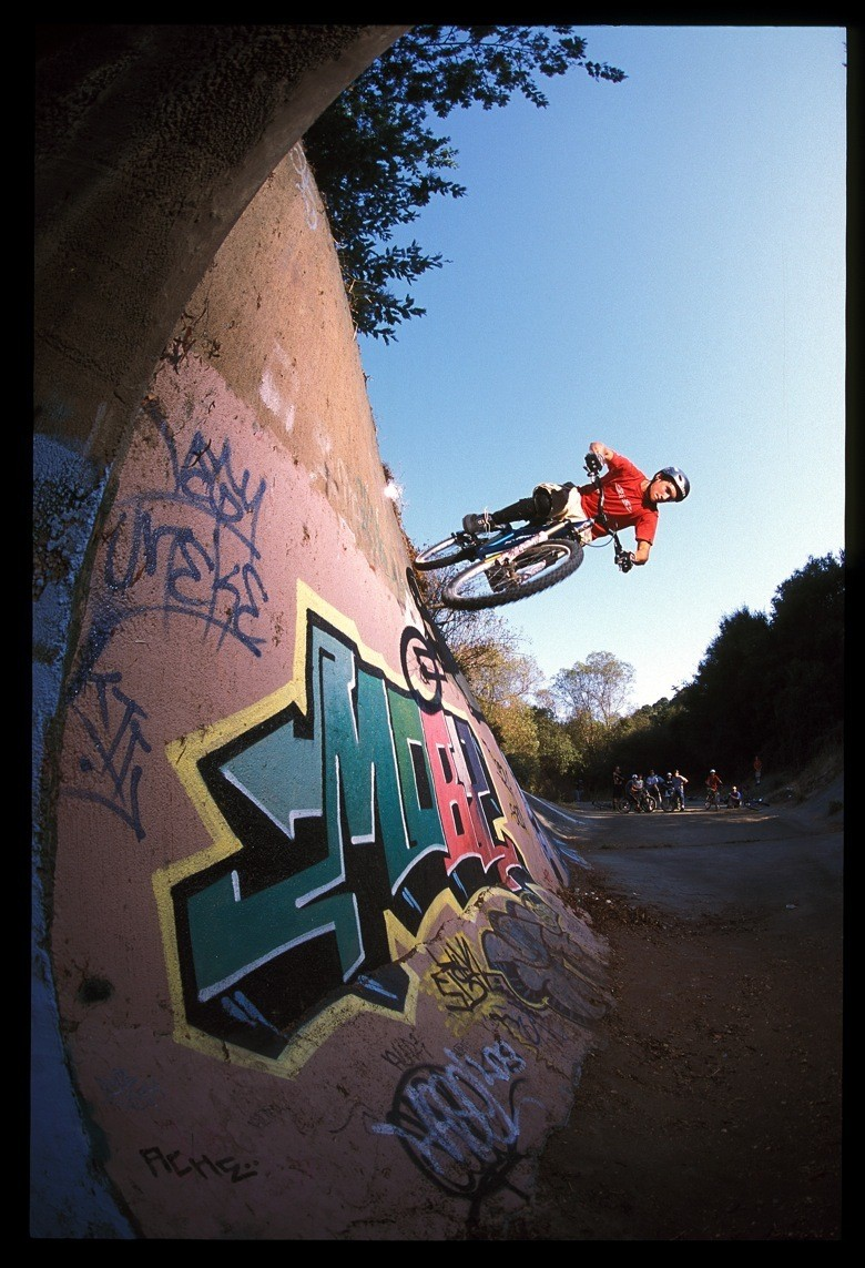 Cam McCaul, Some Ditch in Norcal, 2003 - Cam McCaul, Pro Rider Photo Gallery - Mountain Biking Pictures - Vital MTB