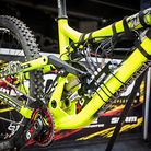 Remi Thirion's Commencal with Data Acquisition System on BOS Suspension at Andorra