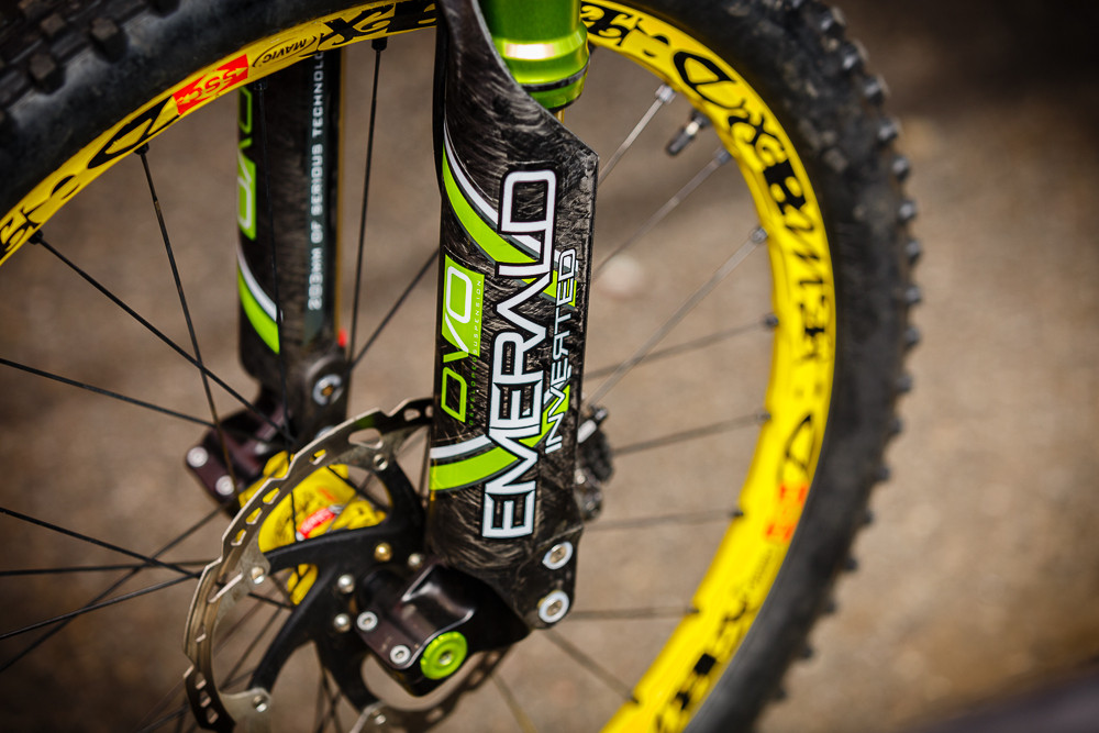 DVO Carbon Torsion Arch at Andorra World Cup - PIT BITS: 2013 Andorra World Cup - Mountain Biking Pictures - Vital MTB