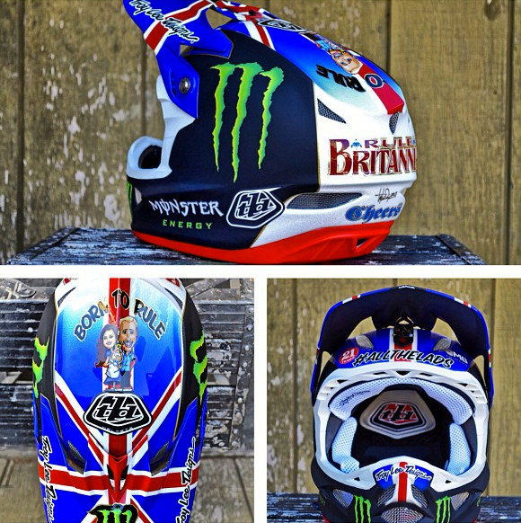 Steve Peat's Custom Troy Lee Designs Helmet for 2013 World Champs - World Championships Bikes and Gear 2013 - Mountain Biking Pictures - Vital MTB