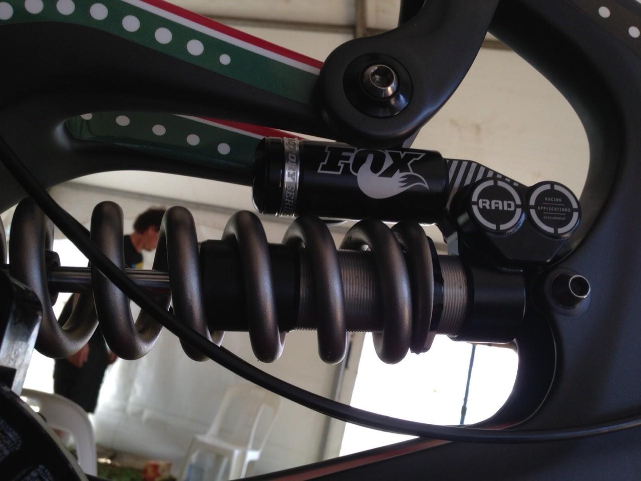 Prototype Fox RAD Coil Shock on Greg Minnaar's World Champs Bike - World Championships Bikes and Gear 2013 - Mountain Biking Pictures - Vital MTB