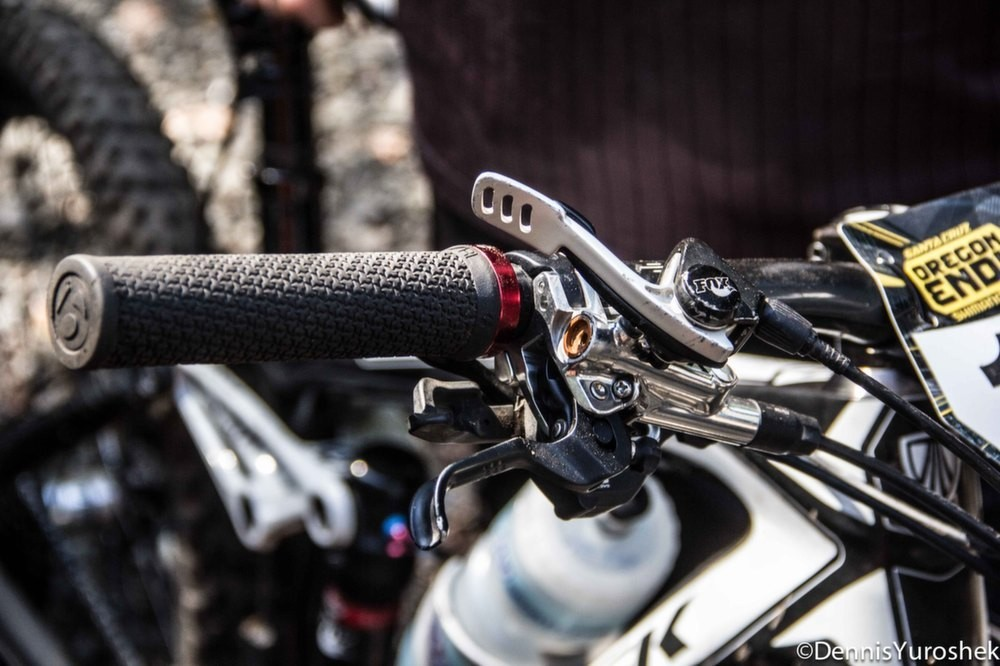 JHK's Bars with Plenty of Buttons to Push - PIT BITS: North American Enduro Tour, Mount Hood - Mountain Biking Pictures - Vital MTB