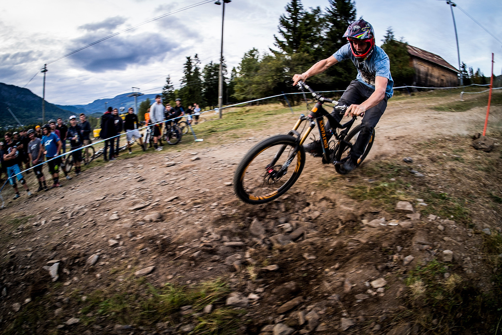Joe Bowman of Steel City Media at the Industry World Champs - Has-Beens vs. Wannabes! Industry World Champs Race at Hafjell - Mountain Biking Pictures - Vital MTB