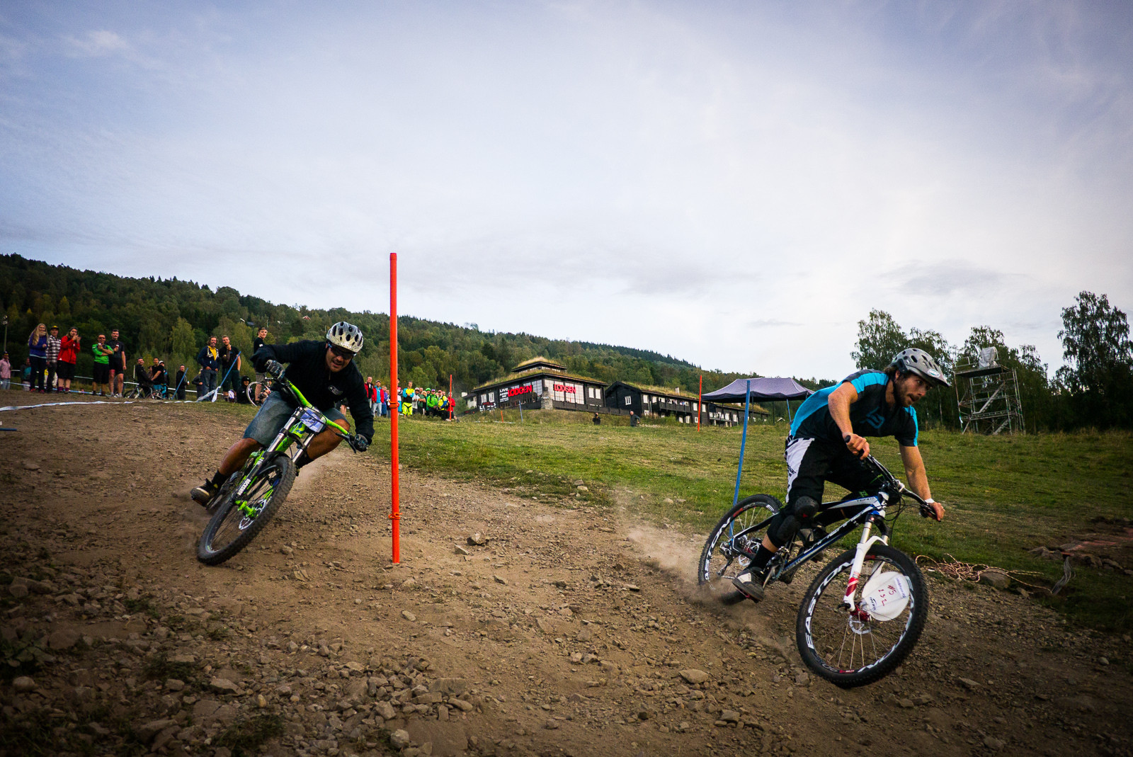 Vasquez Getting Knocked Out - Has-Beens vs. Wannabes! Industry World Champs Race at Hafjell - Mountain Biking Pictures - Vital MTB