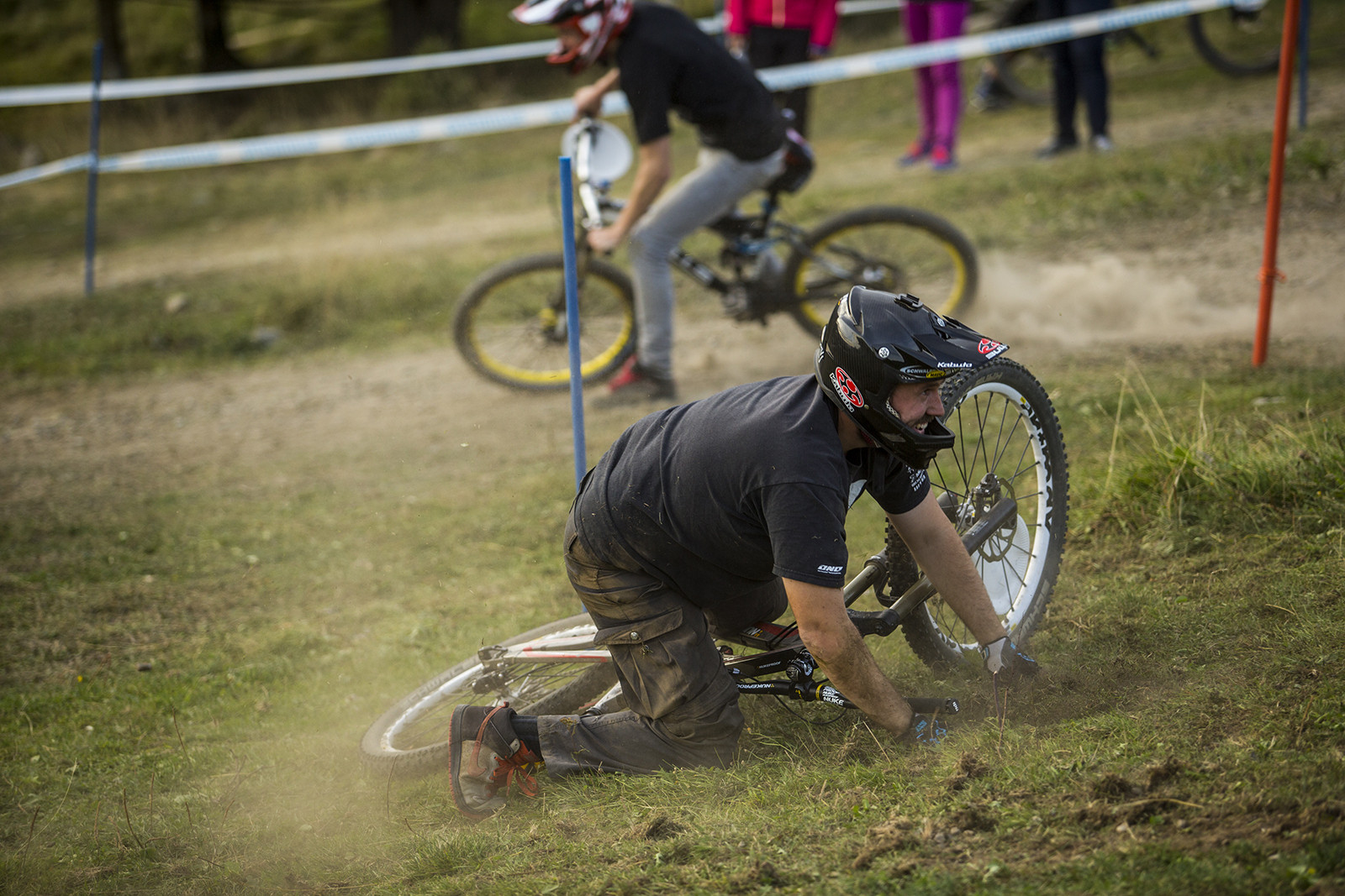 Seabass Down, But Still Stoked - Has-Beens vs. Wannabes! Industry World Champs Race at Hafjell - Mountain Biking Pictures - Vital MTB