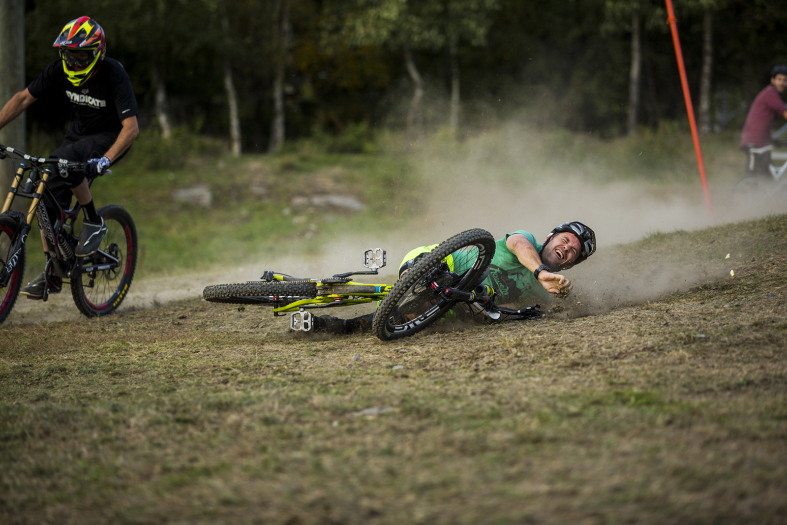 Sven Goes Down at 2013 Industry World Champs - Has-Beens vs. Wannabes! Industry World Champs Race at Hafjell - Mountain Biking Pictures - Vital MTB