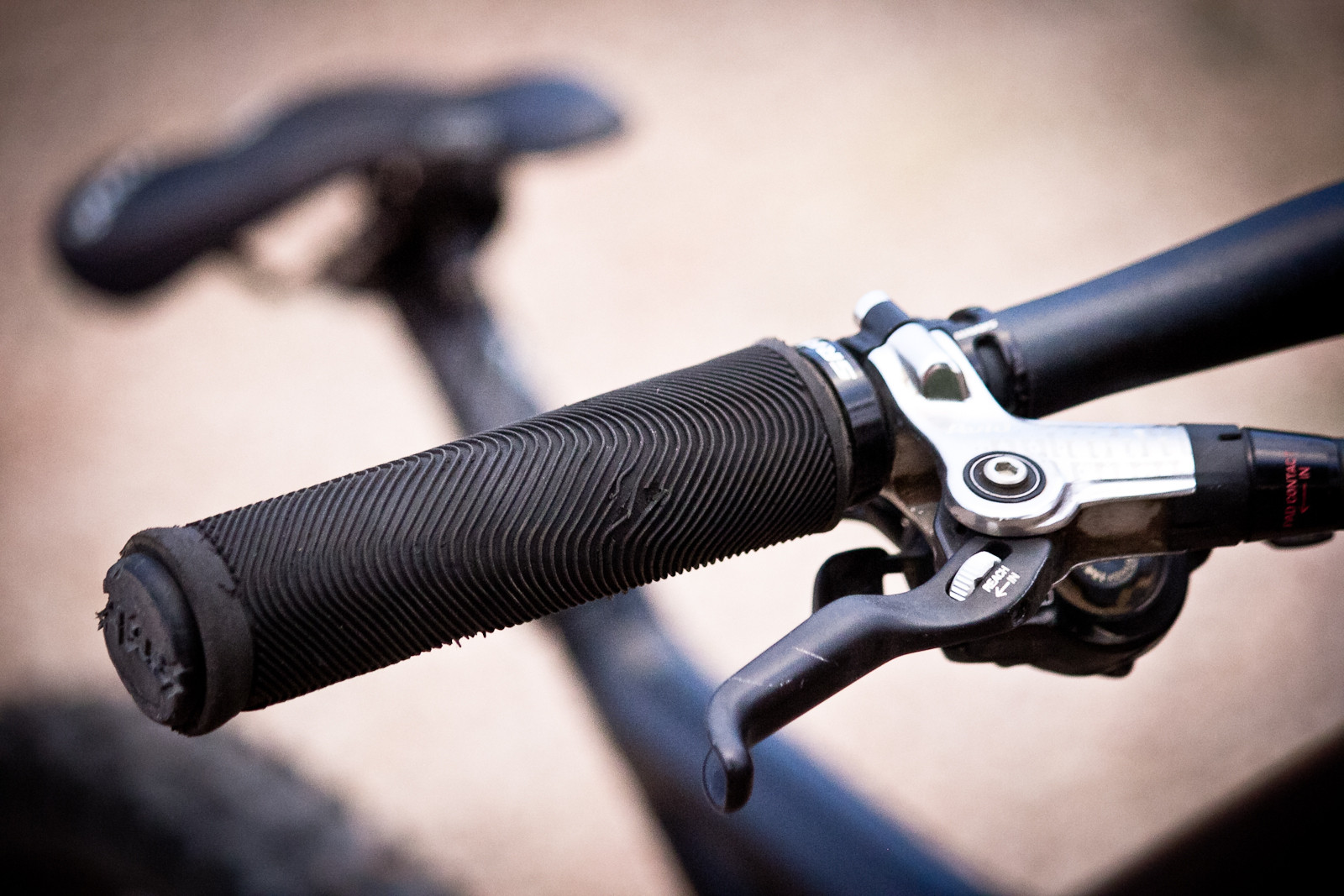 Kyle Strait's Sensus Swayze Grips with Custom Sleeve  - Rampage Pro Bike: Kyle Strait's GT Fury - Mountain Biking Pictures - Vital MTB