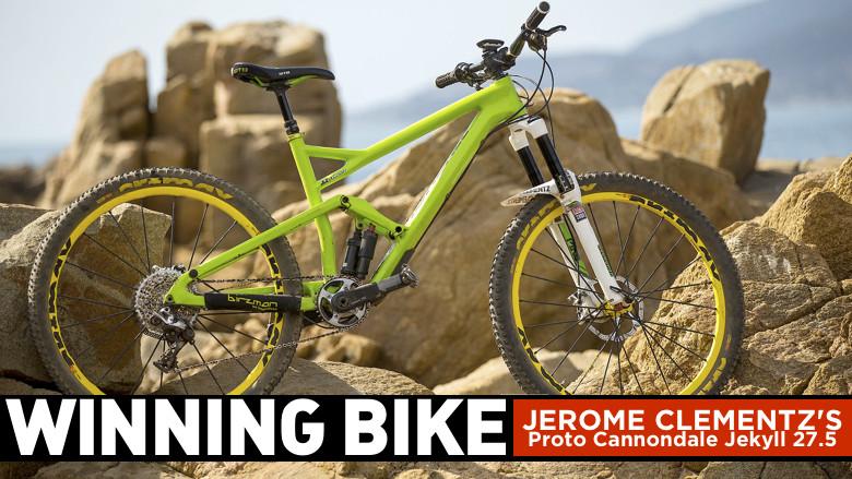 WINNING BIKE: Jerome Clementz's Prototype Cannondale Jekyll 27.5 - WINNING BIKE: Jerome Clementz's Prototype Cannondale Jekyll 27.5 - Mountain Biking Pictures - Vital MTB