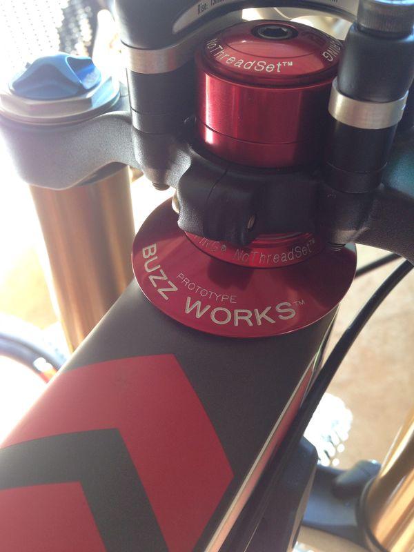 Prototype Chris King Buzz Works Headset On Santa Cruz