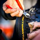 Tire Cutting for Martin Maes of Atherton Racing