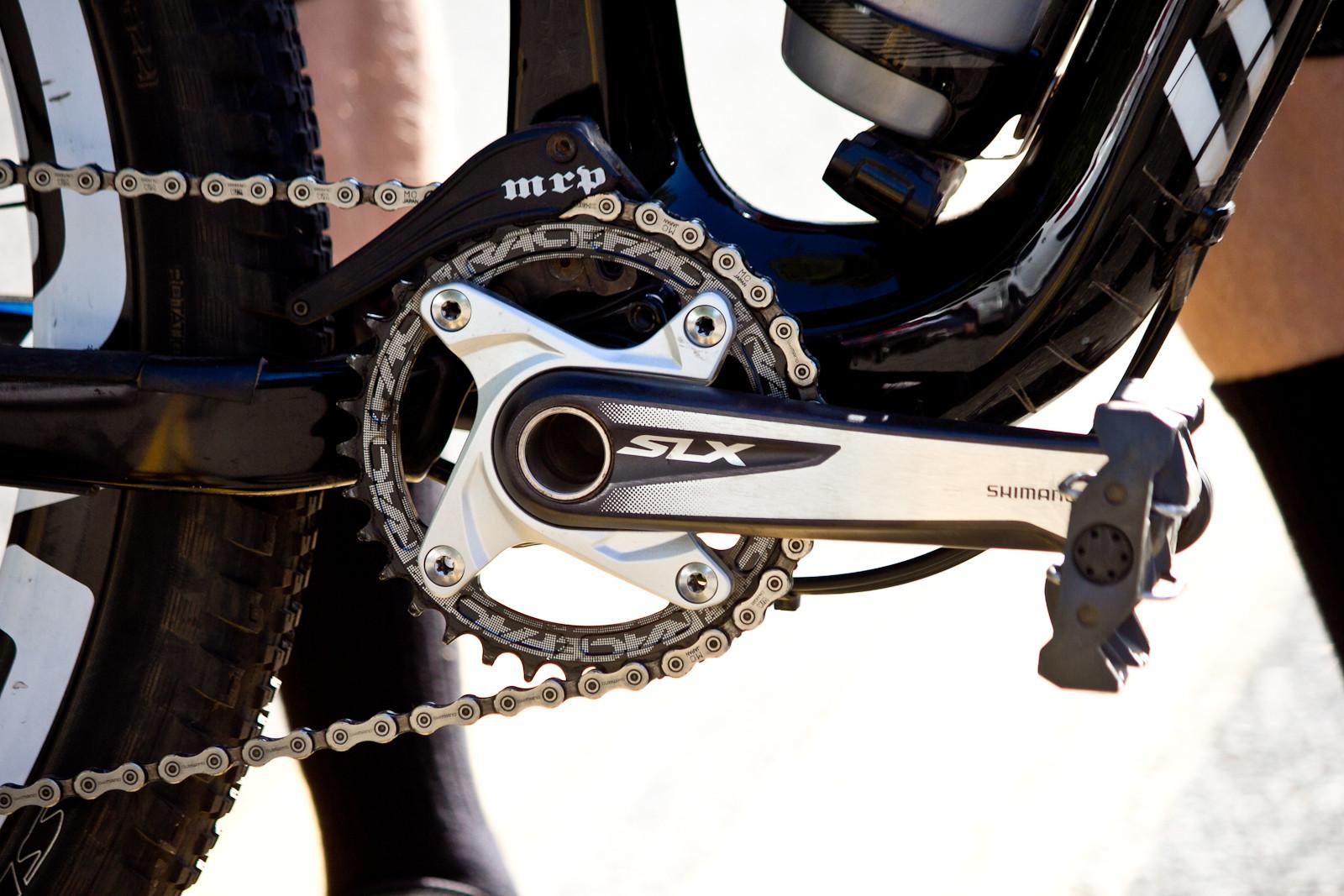 Shimano SLX Crankset on Cody Kelley's Stumpjumer FSR EVO 29 - Pro Bike Check: Cody Kelley's Specialized Stumpjumper FSR EVO 29 - Mountain Biking Pictures - Vital MTB