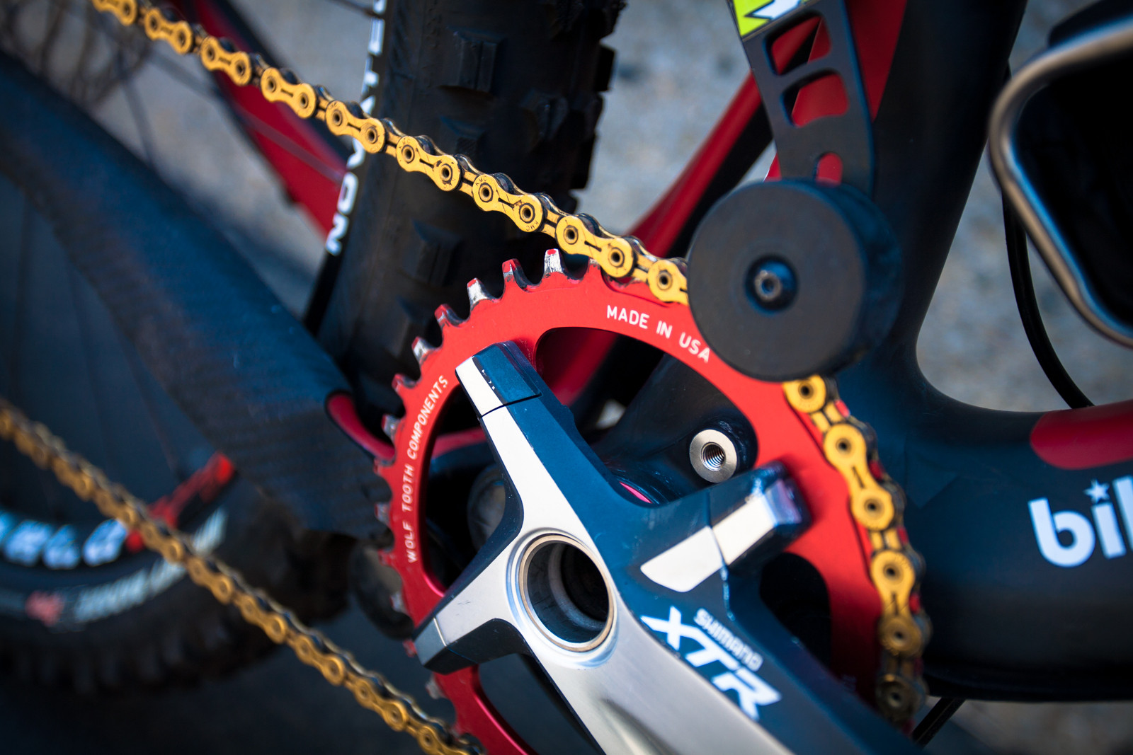 Wolf Tooth Components Chainring on Brian Lopes' Intense Tracer T275 - Pro Bike Check: Brian Lopes' Intense Tracer T275 - Mountain Biking Pictures - Vital MTB