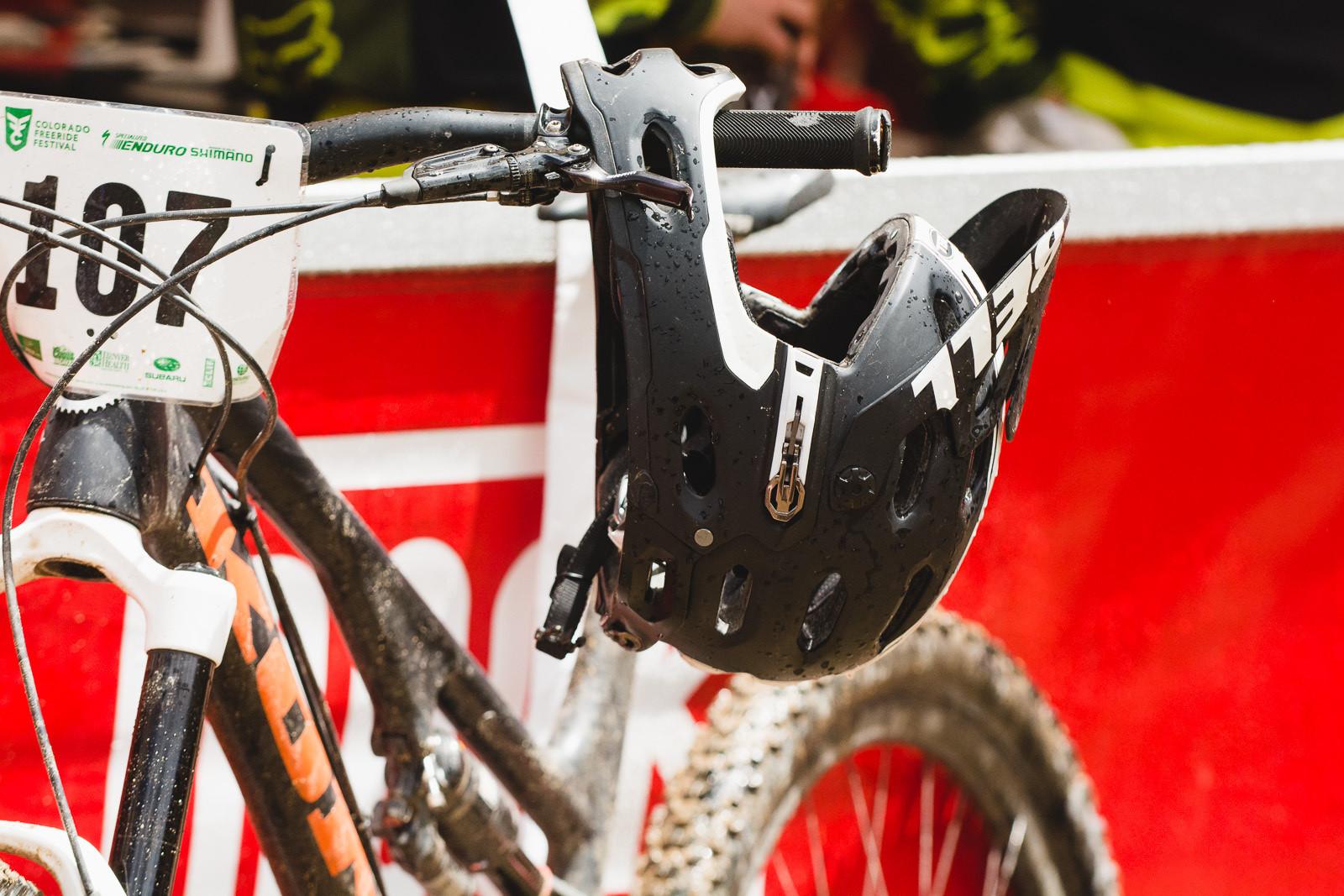 Matt Slaven's Prototype Bell Super 2R Fullface Helmet - PIT BITS - 2014 Enduro World Series Colorado Freeride Festival - Mountain Biking Pictures - Vital MTB
