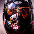 Luca Shaw's Custom-painted Troy Lee Designs D3 for World Champs