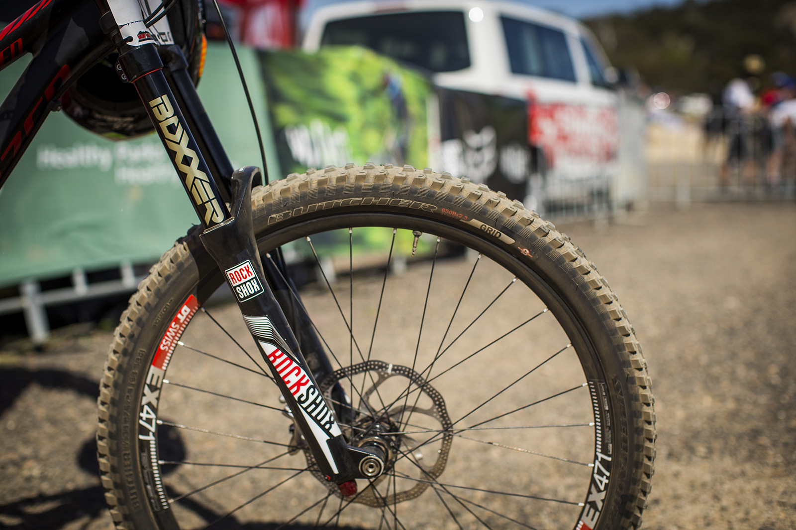 RockShox BoXXer World Cup on Troy Brosnan's Specialized Enduro Expert EVO - WINNING BIKE: Troy Brosnan's Specialized Enduro Expert EVO - Mountain Biking Pictures - Vital MTB