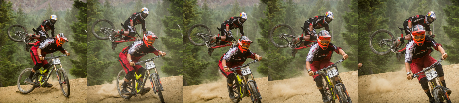 Captain Crooked and Sergeant Sideways - Vertigo Bikes Whip Off at the Atlas Bar Wynyard Jam - Mountain Biking Pictures - Vital MTB