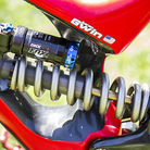 Aaron Gwin's FOX DHX RC4 with 425lb Ti Spring