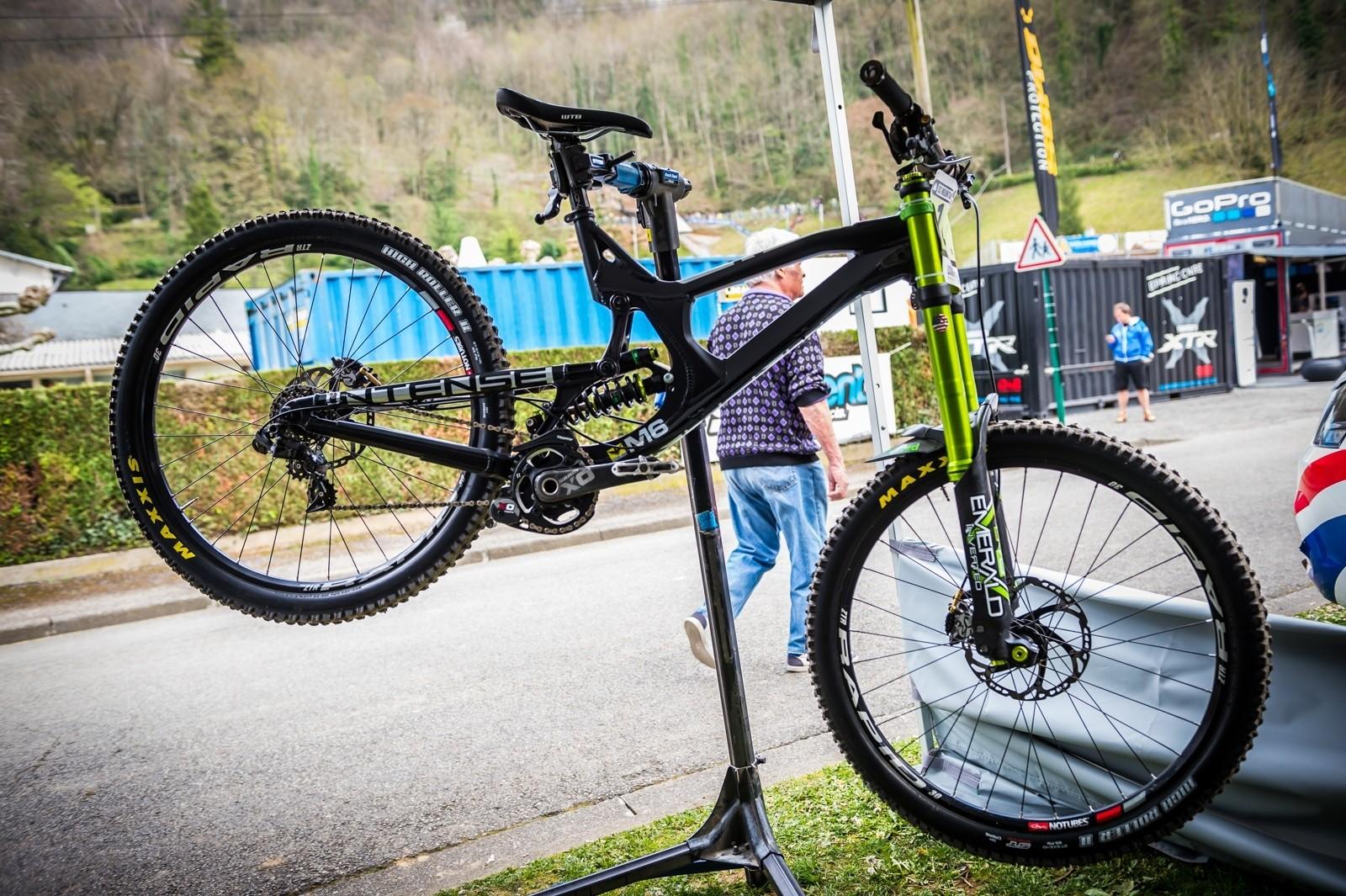 PIT BITS - Intense M16 at Lourdes World Cup - PIT BITS - World Cup, Lourdes, France - Mountain Biking Pictures - Vital MTB