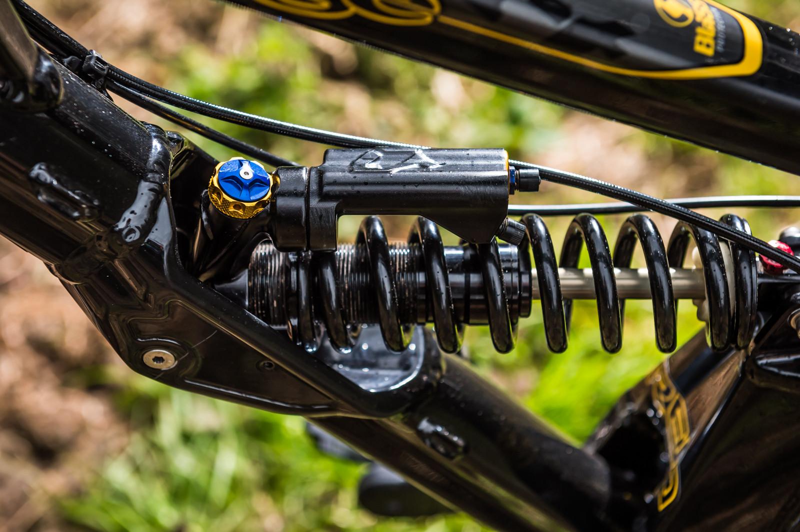 PIT BITS - Prototype X-Fusion Rear Shock - PIT BITS - World Cup, Lourdes, France - Mountain Biking Pictures - Vital MTB