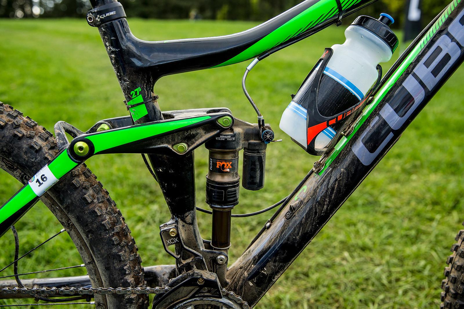 Greg Callaghan's Cube Stereo 140 Super HPC SL 27.5 - WINNING BIKE: Greg Callaghan's Cube Stereo 140 Super HPC SL 27.5 - Mountain Biking Pictures - Vital MTB