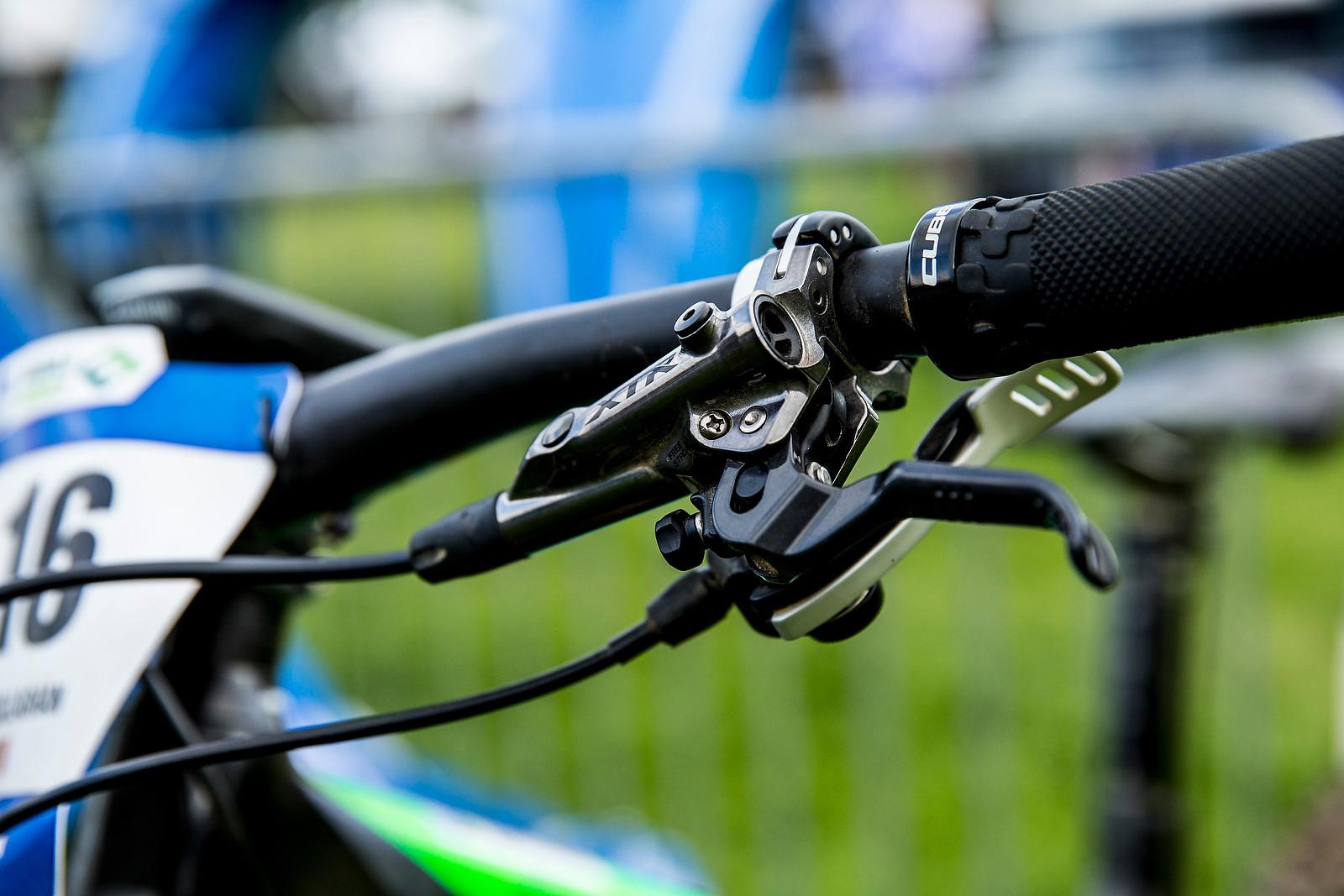 Shimano XTR Shifter and Lever - WINNING BIKE: Greg Callaghan's Cube Stereo 140 Super HPC SL 27.5 - Mountain Biking Pictures - Vital MTB