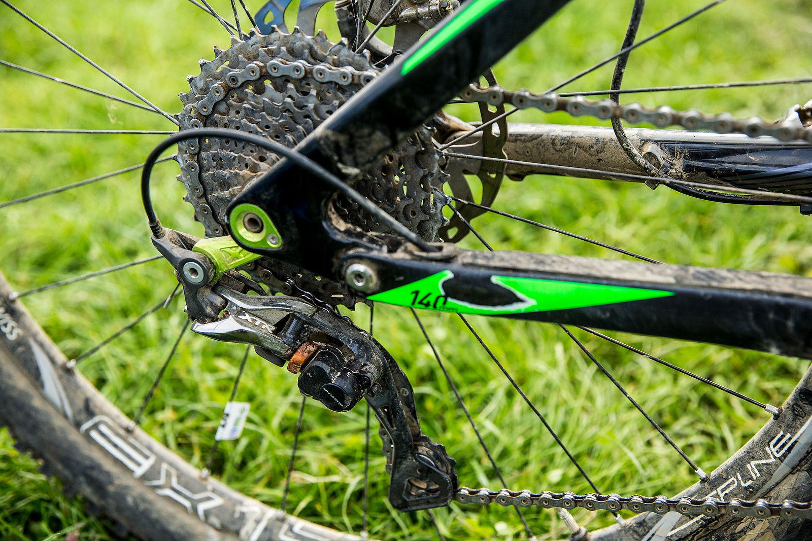 Shimano XTR Rear Derailleur - WINNING BIKE: Greg Callaghan's Cube Stereo 140 Super HPC SL 27.5 - Mountain Biking Pictures - Vital MTB