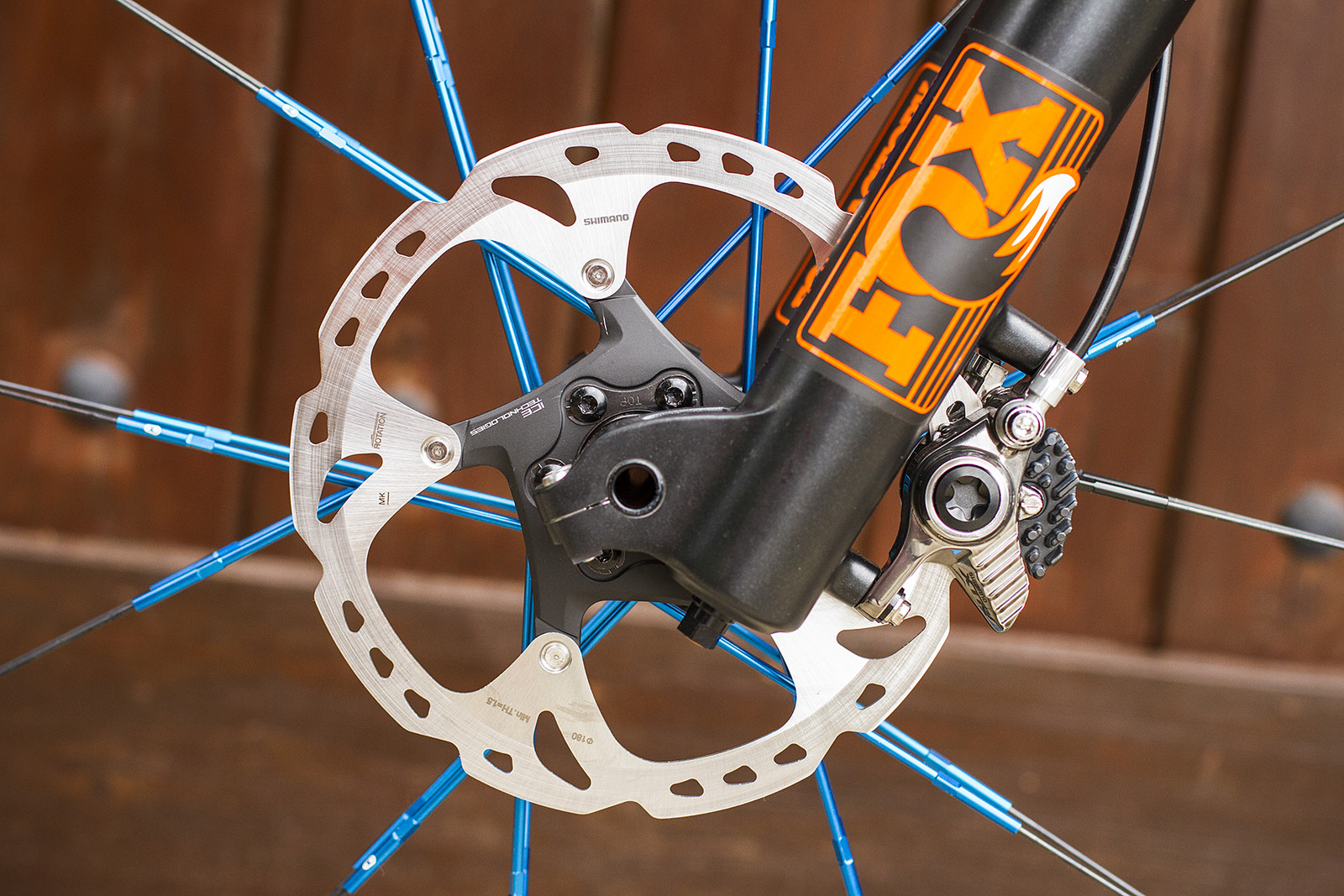 Shimano XTR Front Brake with 180mm Rotor for Hans Rey - Legend Bike Check: Hans Rey's GT Force X Pro - Mountain Biking Pictures - Vital MTB