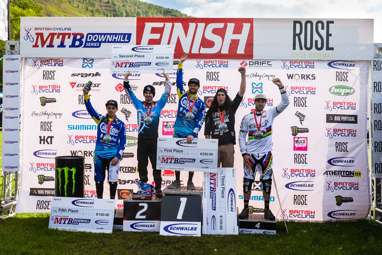 British Downhill Series Langollen Elite Men's DH Podium - RACE REPORT - British Downhill Series Llangollen - Mountain Biking Pictures - Vital MTB