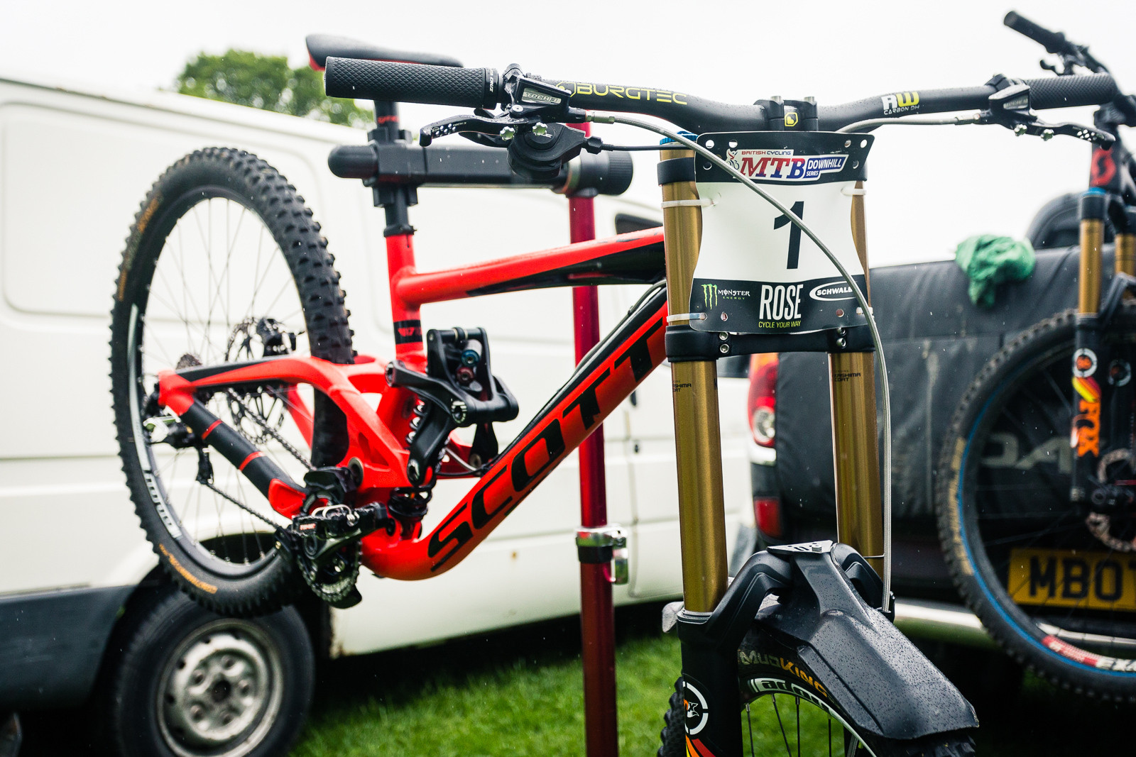 Marc Beaumont's Scott Gambler - PIT BITS - British Downhill Series, Llangollen - Mountain Biking Pictures - Vital MTB