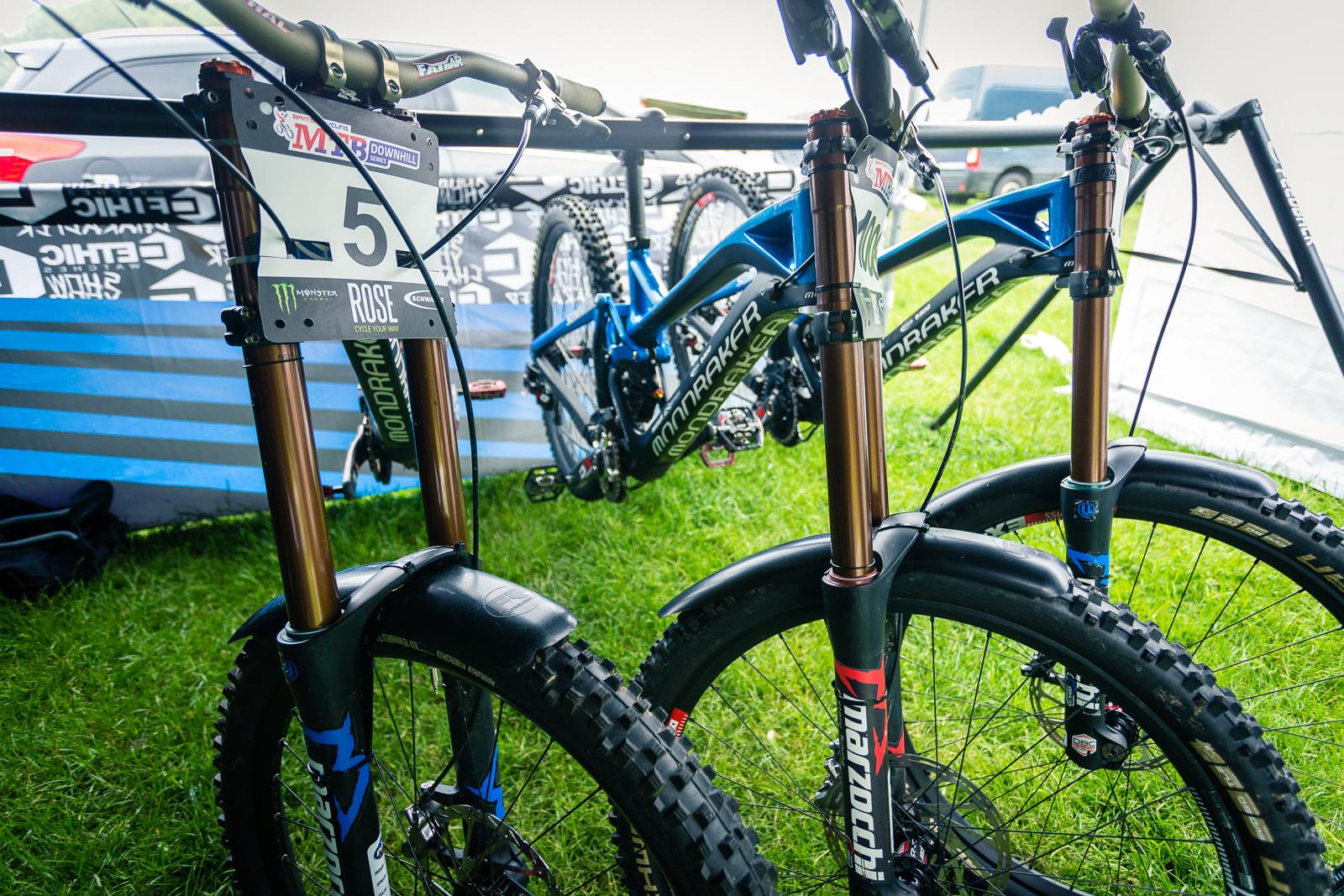 MS Mondraker Team Bikes at BDS Llangollen - PIT BITS - British Downhill Series, Llangollen - Mountain Biking Pictures - Vital MTB