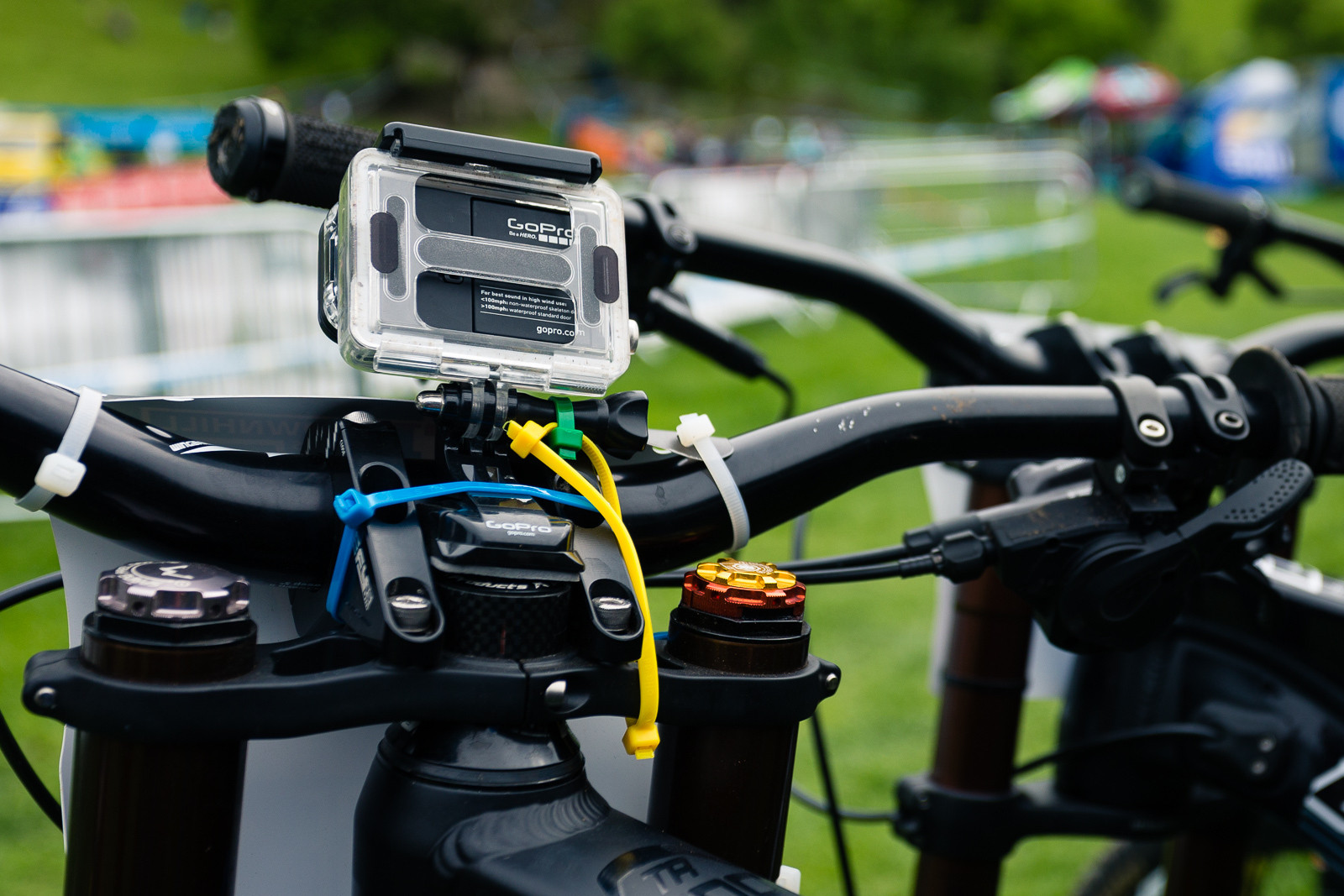 Bar-mounted Camera - PIT BITS - British Downhill Series, Llangollen - Mountain Biking Pictures - Vital MTB