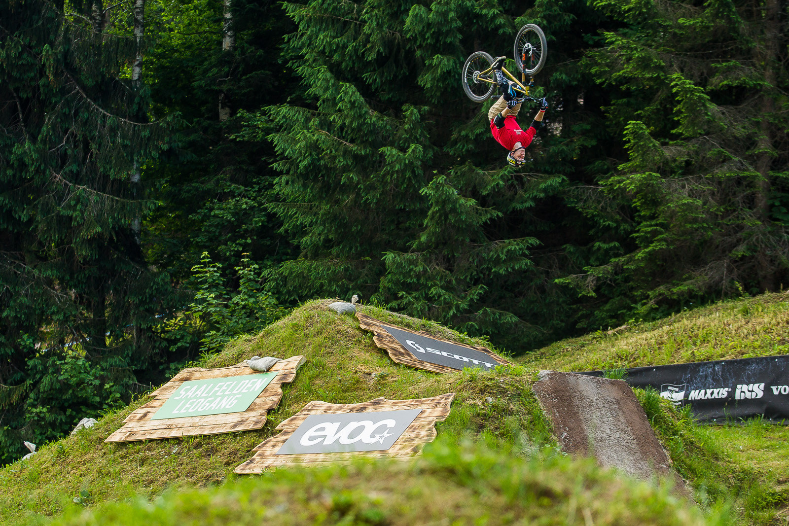 Ryan Nyquist Backflips his Mountain Bike at 26Trix - PIT BITS - Leogang World Cup Downhill - Mountain Biking Pictures - Vital MTB