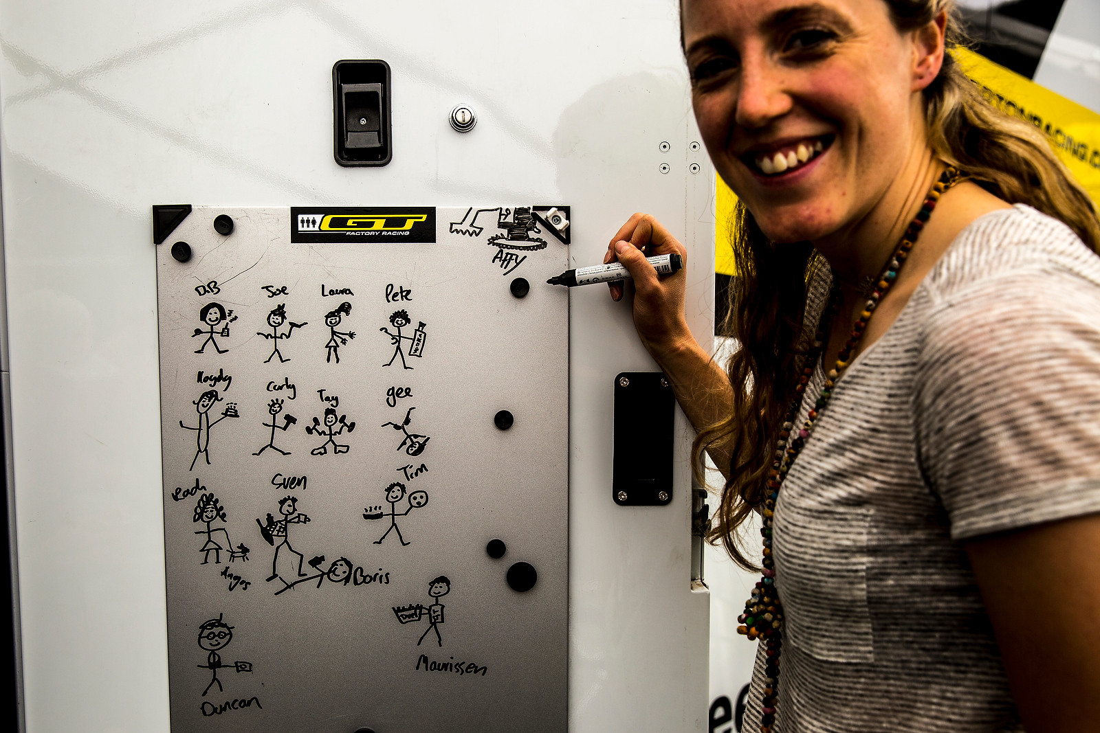 She's No Kintner with the Artwork, But It'll Do - PIT BITS - Leogang World Cup Downhill - Mountain Biking Pictures - Vital MTB
