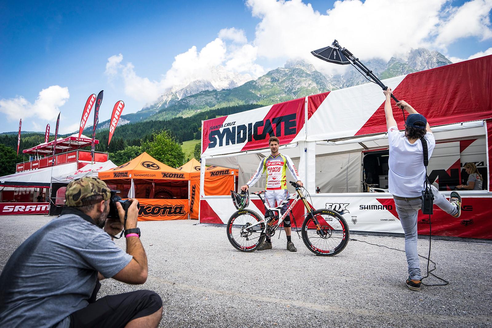 Greg Minnaar Fashion Shoot - PIT BITS - Leogang World Cup Downhill - Mountain Biking Pictures - Vital MTB