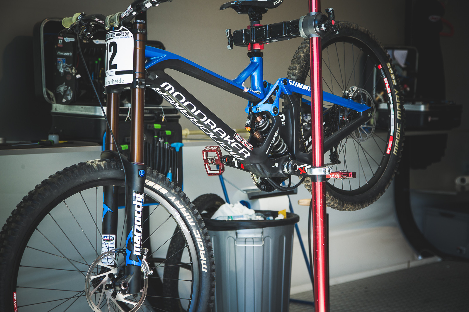 PIT BITS - Danny Hart's Mondraker Summum Carbon - PIT BITS - World Cup Lenzerheide, Switzerland - Mountain Biking Pictures - Vital MTB