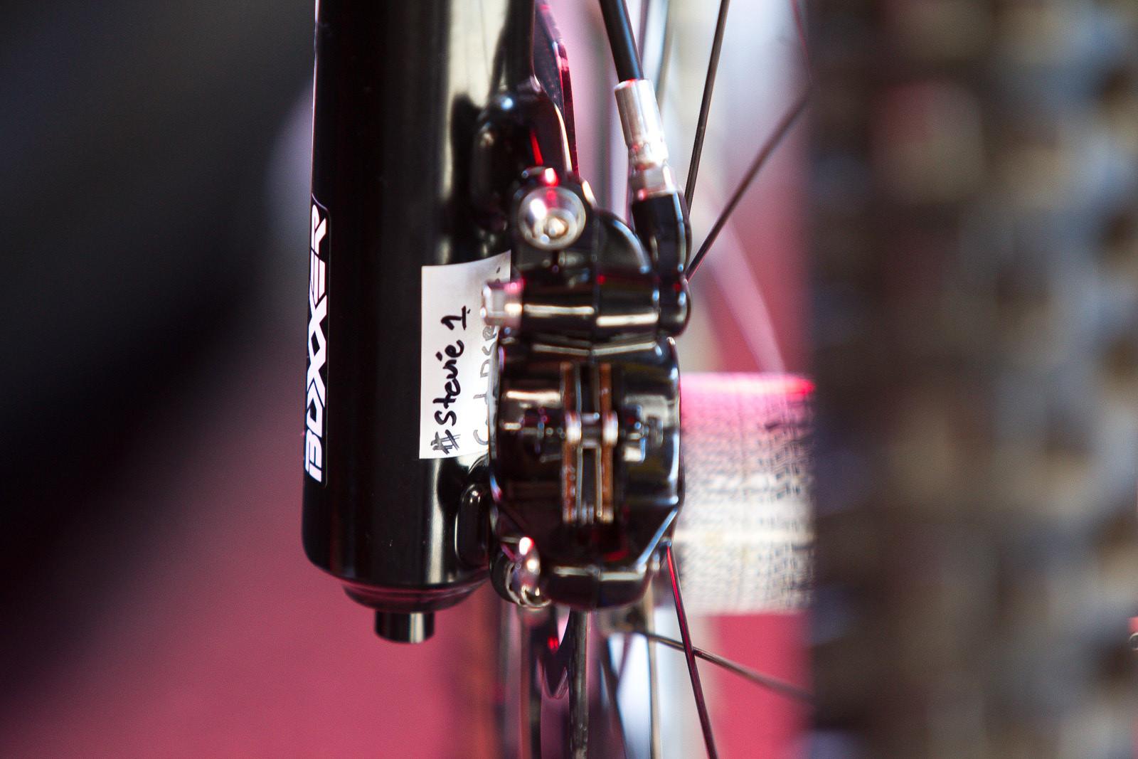 Stevie Smith's RockShox BoXXer - PIT BITS - World Cup Lenzerheide, Switzerland - Mountain Biking Pictures - Vital MTB