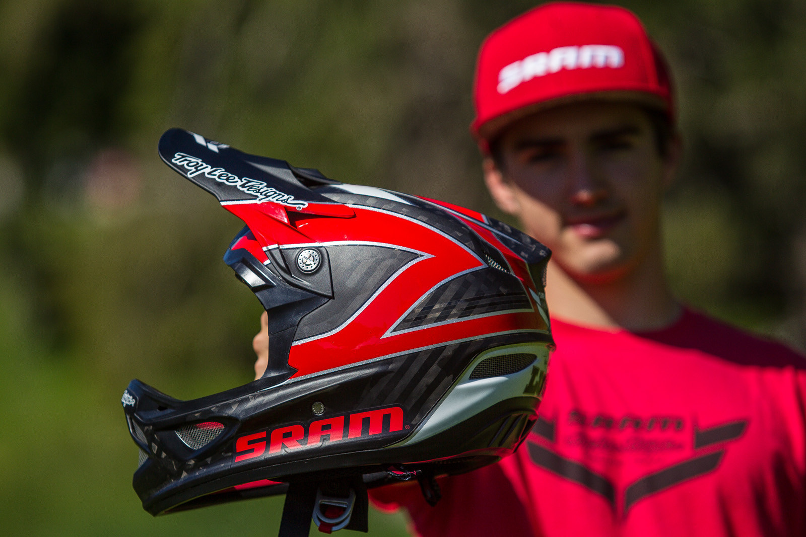 Luca Shaw's Troy Lee Designs D3 Helmet - PIT BITS - World Cup Lenzerheide, Switzerland - Mountain Biking Pictures - Vital MTB