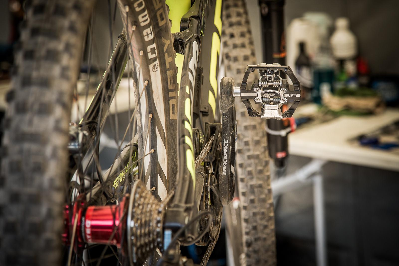 Sam Blenkinsop's HT Pedals - PIT BITS - World Cup Lenzerheide, Switzerland - Mountain Biking Pictures - Vital MTB