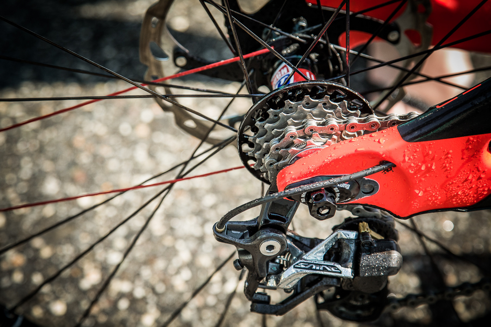 Fairclough's Custom 7-speed Shimano Cassette - PIT BITS - World Cup Lenzerheide, Switzerland - Mountain Biking Pictures - Vital MTB
