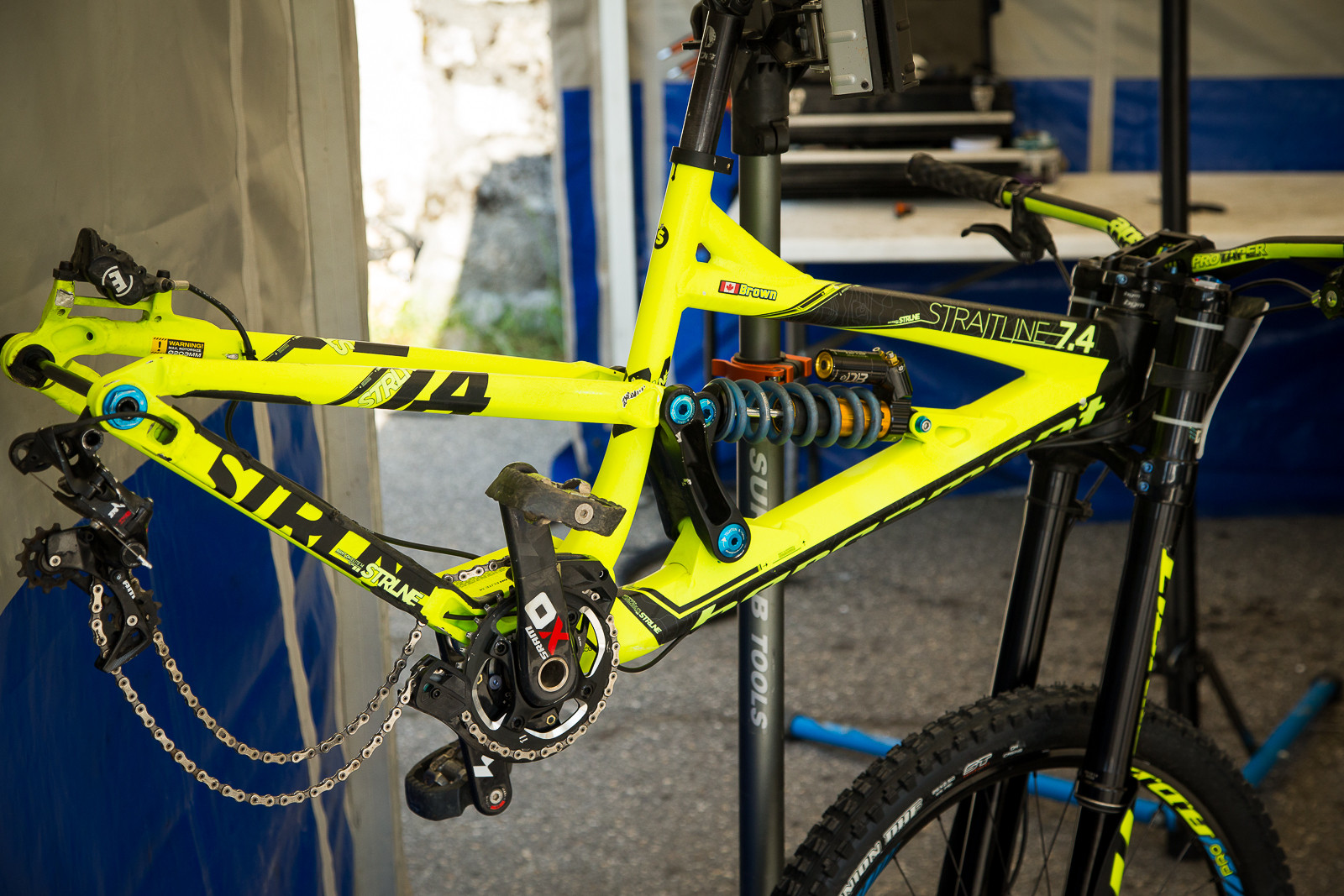 Casey Brown's Bergamont Straitline - PIT BITS - World Cup Lenzerheide, Switzerland - Mountain Biking Pictures - Vital MTB