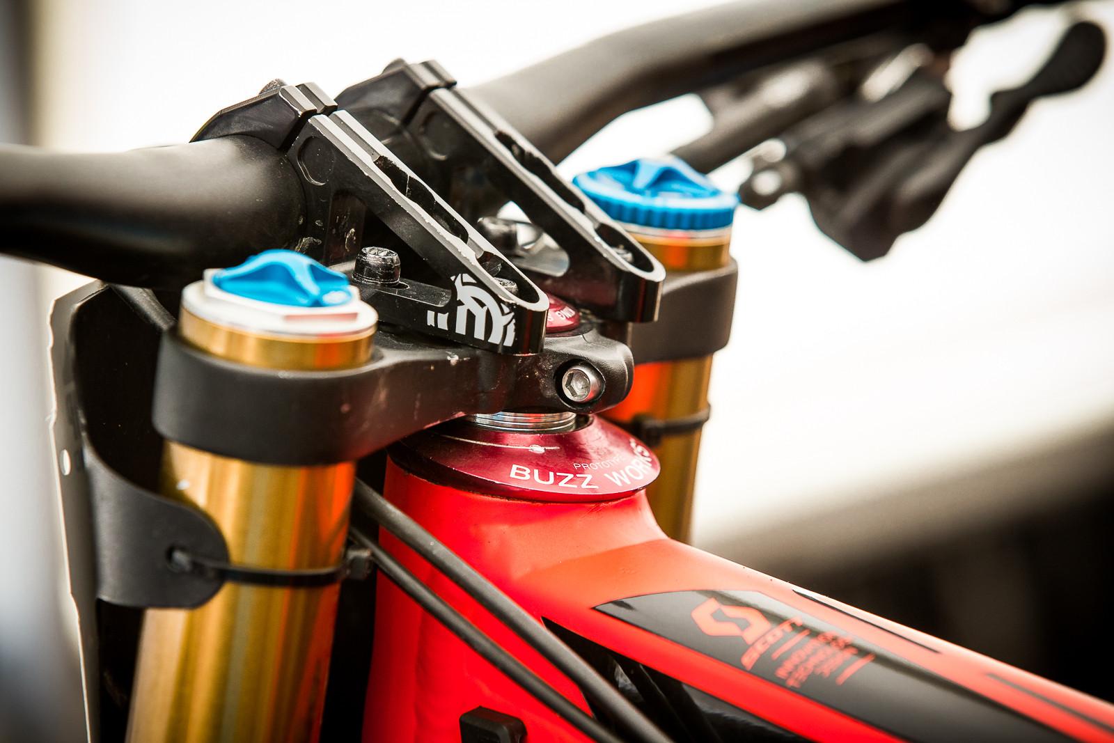 Neko Mulally's Scott Gambler - PIT BITS - World Cup Lenzerheide, Switzerland - Mountain Biking Pictures - Vital MTB
