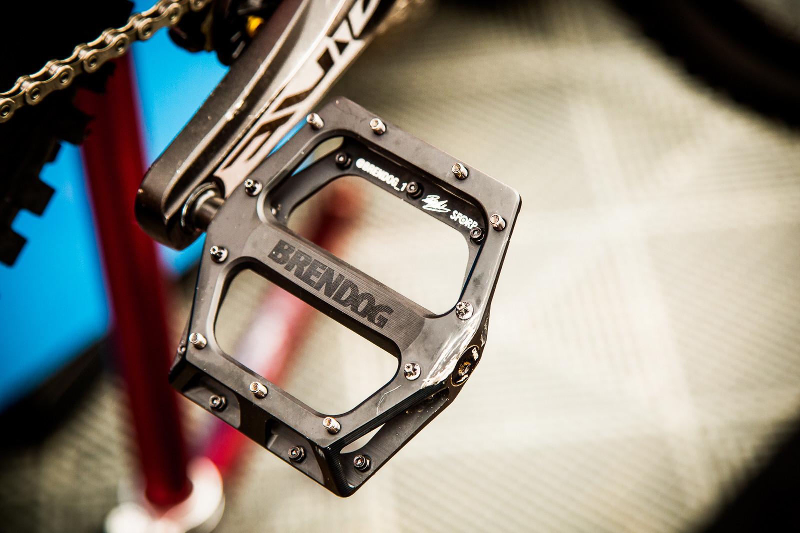 Brendog's DMR Pedals and Grips - PIT BITS - World Cup Lenzerheide, Switzerland - Mountain Biking Pictures - Vital MTB