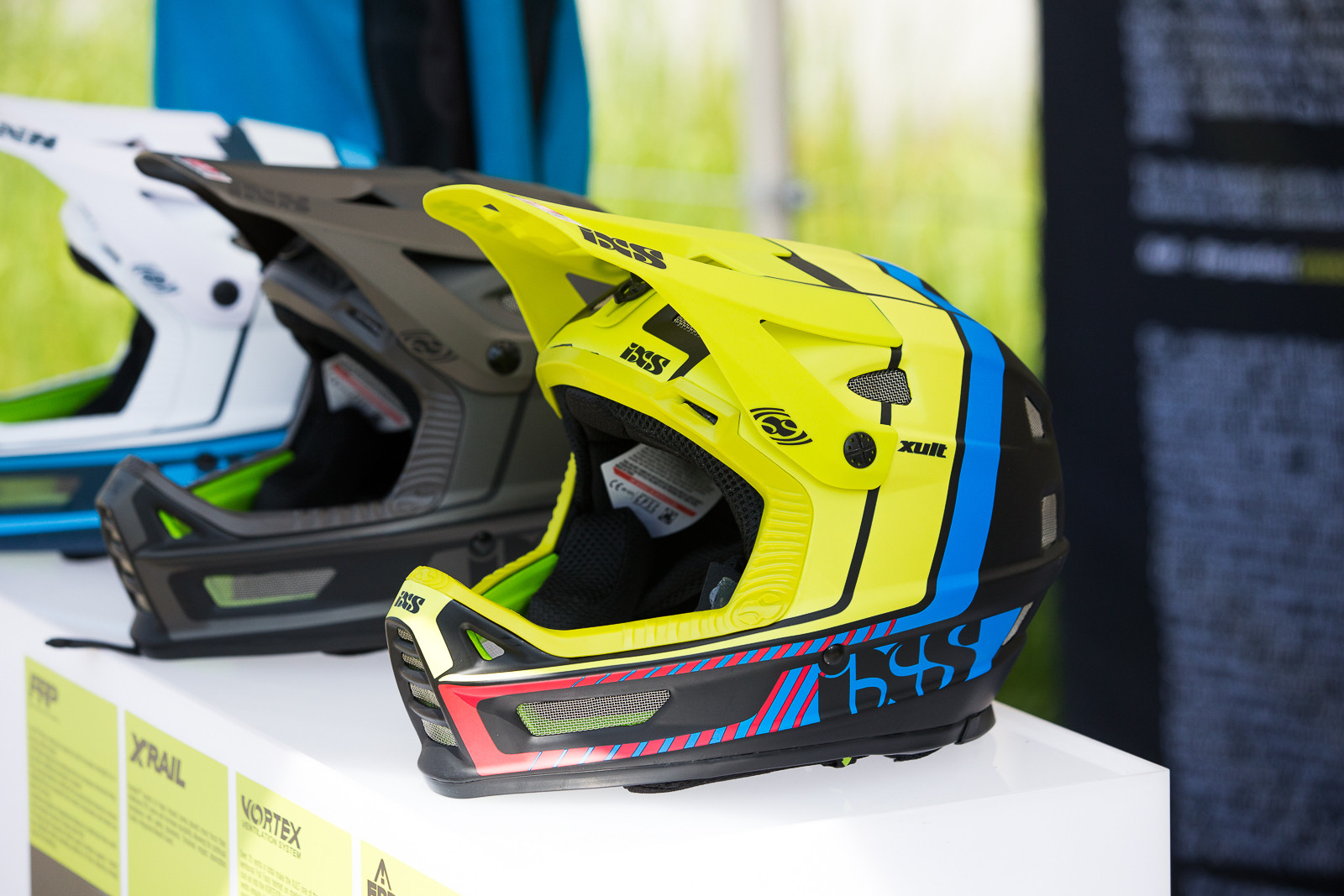 iXS Xult Fullface Helmets - PIT BITS - World Cup Lenzerheide, Switzerland - Mountain Biking Pictures - Vital MTB