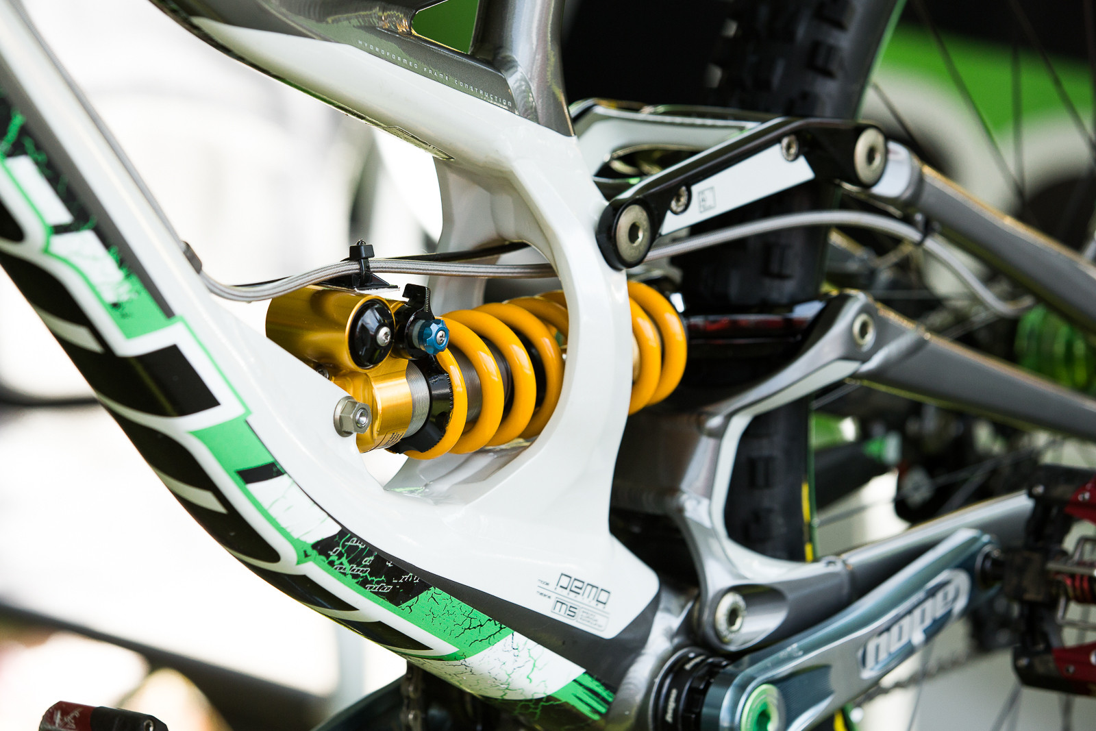 WORLD CUP PIT BITS - Adam Brayton's Ohlins-equipped Hope Tech Specialized Demo - PIT BITS - World Cup Lenzerheide, Switzerland - Mountain Biking Pictures - Vital MTB